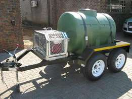 Water tank trailers/water browsers for sale.
