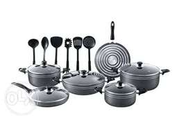 17pcs Heavy Duty Non-stick die-cast Aluminium cookware set