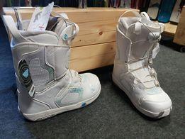 Buty snowboardowe Salomon pearl White 24.5 cm 39 eu Nowe