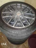 rims with tyres for sale 5 holes they can fit in most cars