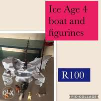 Ice Age 4 Boat and Figurines