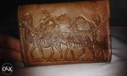 Genuine leather engraved wallet