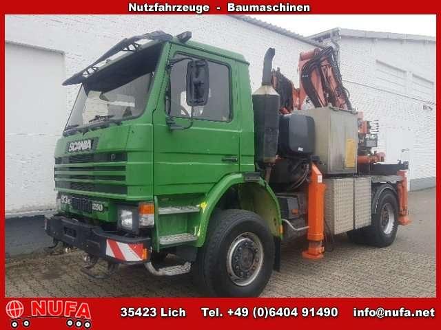 Scania 93h -250/4x4, Atlas Ak 255.1, Funk, 17.9 - M 600 - 1996