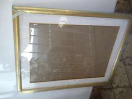 Gold frame with mount