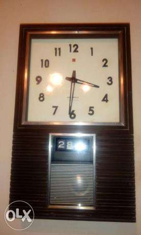 vintage national transistor wall clock + date made in japan