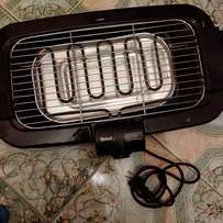 Electrical meat barbecue grill