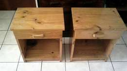 2 x Pine Bed side Pedestals with draws-Reduce to clear