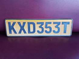 Number Plate KXD 353 T J 2594