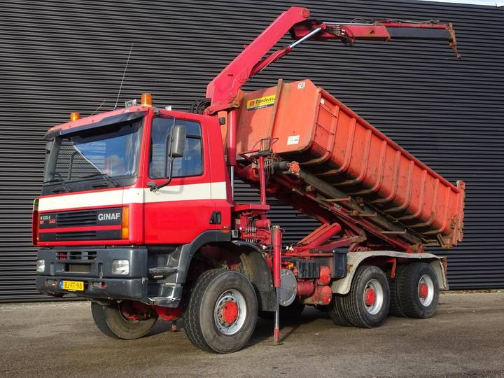 DAF GINAF M3333-S / 6x6 CRANE + CONTAINER SYSTEM - 2000