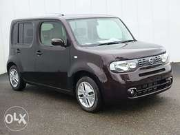 On sale: Nissan Cube, maroon colour: 1500cc 2010 model
