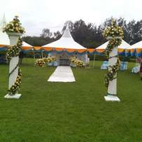 Tents,chairs,decoration