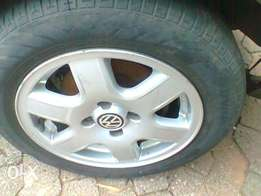 Golf Mk1 rims with tyres. 90% thred.
