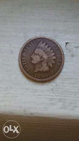 USA Coin Indian Head Cent year 1890