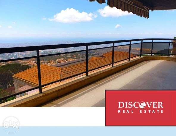 Panoramic sea view apartment for sale in Beit Mery