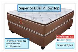 Superior Dual Pillow top queen sets at factory low prices