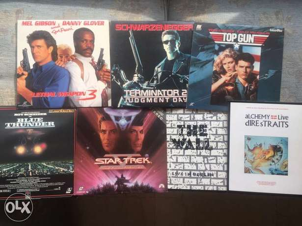 Laser Discs like New package of 7 discs