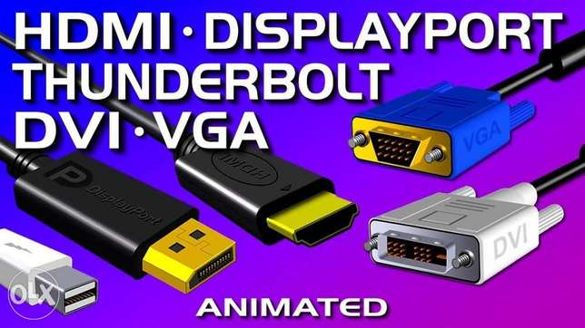 HDMI, DisplayPort, DVI, VGA, & Thunderbolt cables starting $10 pls ask