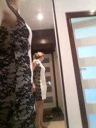 8efe41cf97 Sukienka ecru koronka czarna Molton