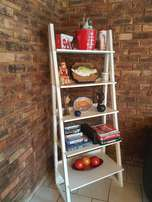 Ladder Storage shelf in white