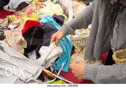 used clean clothes with winter jackets