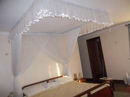 Mosquito Nets opening like curtains