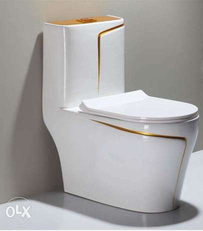 white wc toilet design models with gold line by POPIKGROUP