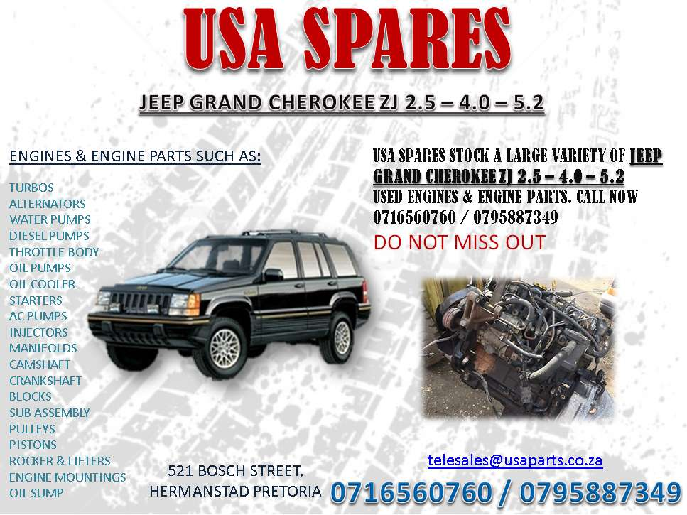 Jeep 4.0 Engine For Sale >> Jeep Grand Cherokee Zj 2 5 4 0 5 7 Engines And Engine Parts For Sale