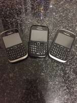 3 Blackberrys for sale. package deal or sold individually