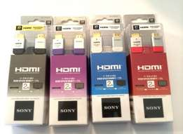 SONY HDMI High Speed Cables 2/5 Metres