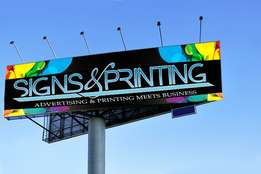printing and installation of signboards and billboards