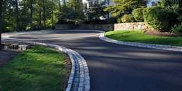 Smooth fine tar surfaces/driveways & parking areas