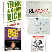 Audio book CDs for motivational and business bestsellers