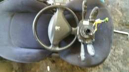Peugeot 207 steering wheel,airbag,clock spring,indicator switch .
