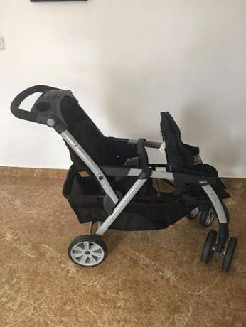 Fairly Used Chicco Cortina Together Double Stroller, Ombra Lekki - image 8