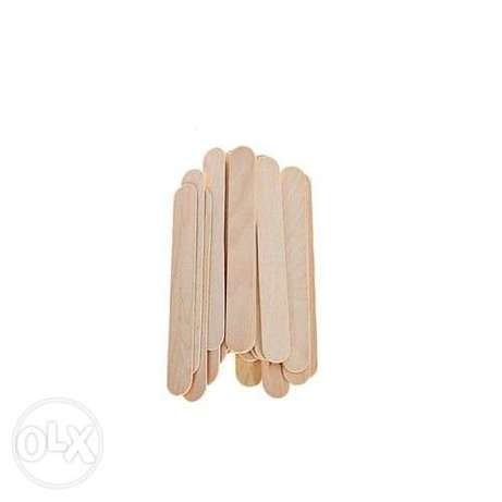 Generic Wooden Body Hair Removal Wax Sticks - 100 Pcs