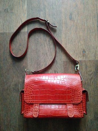 a026160557a7 Рыжая кожаная сумка Vif: 950 грн. - Сумки Харьков на Olx