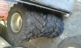 4 quad wheels and tyres