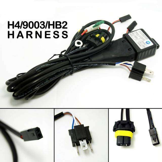 Pleasant Relay Wiring Harness For H4 Hid Kit For Toyota Nissan Ford Honda Wiring Digital Resources Ommitdefiancerspsorg