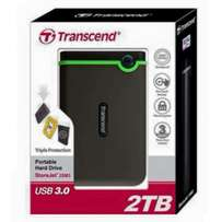 transcend 2TB hard disk brand new