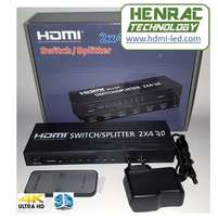 HDMI Switch/ Splitter 2x4 Ultra HD, 3D
