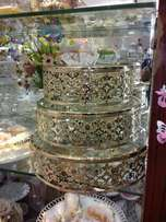 3 pc dome cake stand.