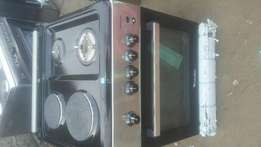 gas and electric cooker with oven brand new