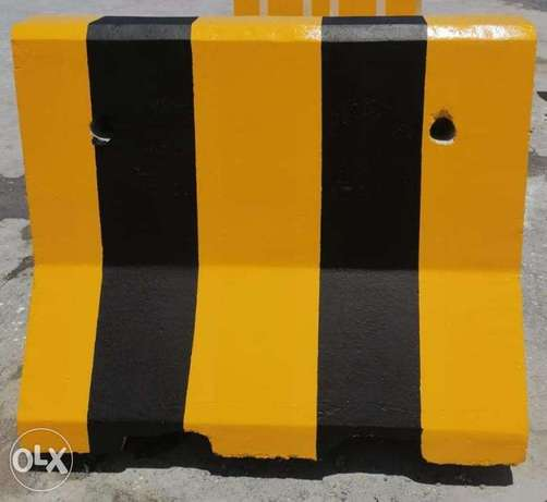 Concrete road barrier for rent.