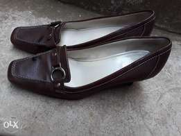 Official brown leather shoes