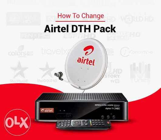 Air tel new Hd Receiver available and dish fix Hd Air tel new With 6m
