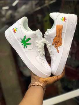 sale retailer 5bcbd 08cbf Nike air force 1 white weed edition Sneakers