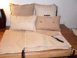Suede Throw and Cushions