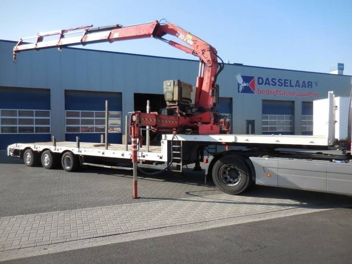Broshuis 3 Absd 48, Hiab 330 , 2 X Extandeble, Power Steering, 25.5 - 1996