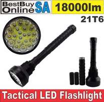 21T6 - High Power Tactical Flashlight 18000lm 21 XML-T6 LED