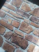 Bricks, pebbles and slabs Italian wallpapers now in store. Order now